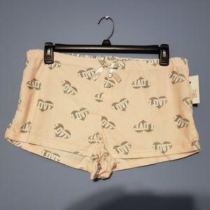 Love flannel sleep shorts